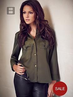 lipsy-michelle-keegan-pu-pocket-blouse