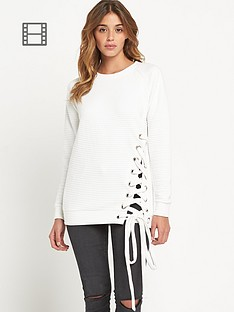 lavish-alice-ribbed-lace-up-side-sweater
