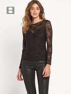 lipsy-high-neck-lace-top