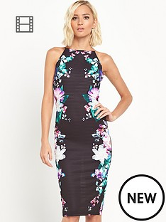 lipsy-high-neck-side-print-bodycon-dress