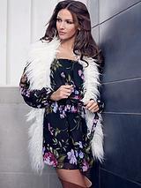 Michelle Keegan Floral Print Bardot Dress