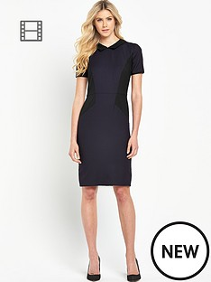 south-petite-collared-panel-pencil-dress
