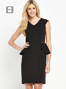 south-zip-detail-peplum-dress