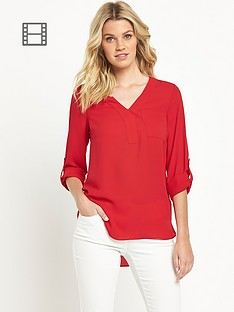 south-roll-sleeve-blouse