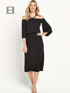 south-petite-jersey-off-the-shoulder-midi-dress