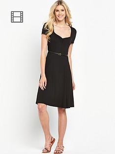 south-tall-sweetheart-neck-tea-dress-black