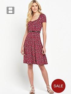 south-tall-animal-print-sweetheart-neck-tea-dress