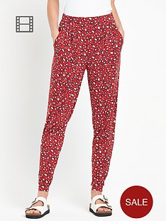 south-animal-print-cuffed-jersey-trousers