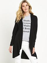 Long Sleeve Curved Hem Cardigan