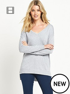 south-v-neck-side-split-jumper