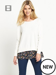south-printed-chiffon-back-jumper
