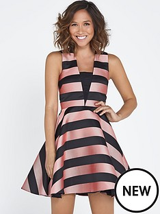 myleene-klass-stripe-full-skirt-dress