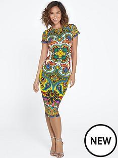 myleene-klass-printed-scuba-dress