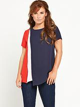 Colourblock Zip Detail Top