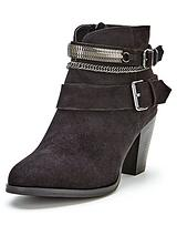 Nadine Chain Detail Ankle Boots - Black