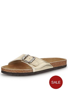 shoe-box-kathy-footbed-flat-buckle-front-sandals-gold