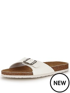shoe-box-kathy-footbed-flat-buckle-front-sandals-white-patent
