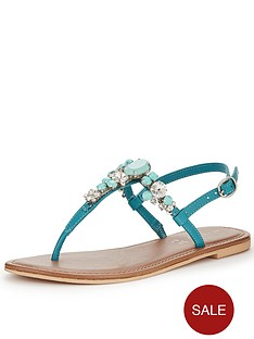 shoe-box-rudy-chunky-jewel-toe-posts-turquoise