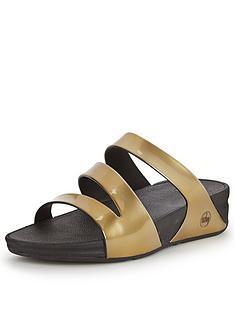 fitflop-superjelly-gold-twist-metalic-slide-sandals