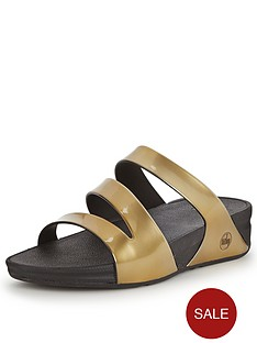 fitflop-superjelly-gold-twist-metalic-slide-sandals
