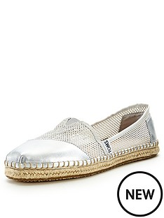 toms-classic-silver-mesh-slip-ons