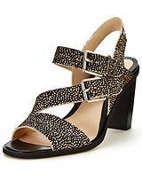 Image Dazzle Assymetric Strap Black Heeled Sandals