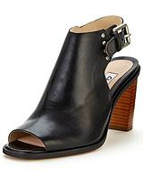 Image Jewel Black Peep Toe Shoe Boots