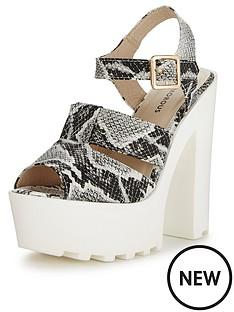glamorous-chunky-sole-snake-print-sandals
