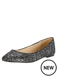 oasis-glitter-ballerina-shoes