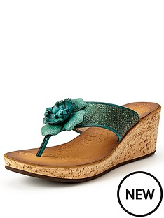 clarks-rais-claire4-teal-wedge-mule-sandals