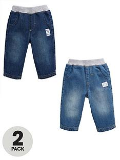 ladybird-baby-boys-jeans-2-pack-with-monkey-badges