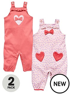 ladybird-baby-girls-animal-and-heart-pretty-dungarees-2-pack