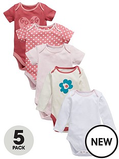 ladybird-baby-girls-gorgeous-bodysuits-5-pack