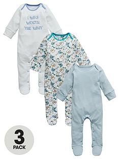 ladybird-baby-boys-dog-sleepsuits-3-pack