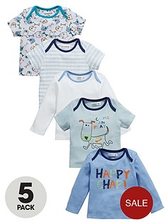 ladybird-baby-boys-happy-chappy-tops-5-pack
