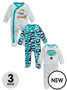 ladybird-baby-boy-supercamo-sleepsuits-3-pack