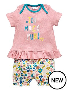 ladybird-baby-girls-too-much-fun-value-shorts-set