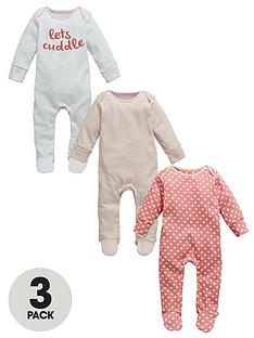 ladybird-baby-girls-lets-cuddle-sleepsuits-3-pack