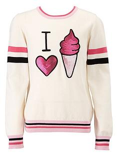 freespirit-girls-sequin-ice-cream-knit-jumper