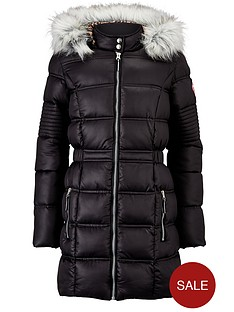 freespirit-girls-longline-padded-coat-with-fur-hood