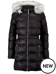 freespirit-longline-padded-coat-with-fur-hood