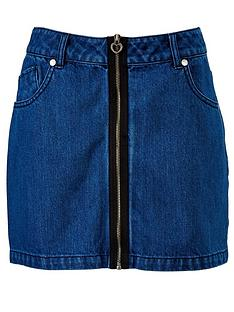 freespirit-girls-zip-detail-denim-skirt