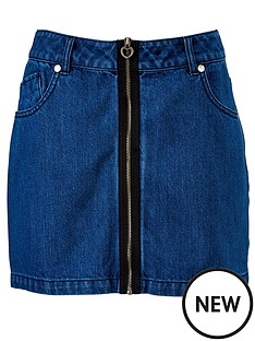 freespirit-zip-detail-denim-skirt