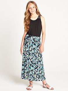 freespirit-girls-geo-floral-maxi-dress
