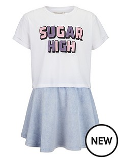 freespirit-girls-glitter-print-t-shirt-and-denim-look-skater-skirt-2-piece-set