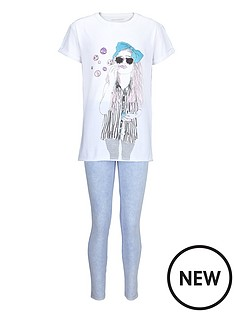 freespirit-girls-glitter-print-boxy-t-shirt-and-jeggings-set-2-piece