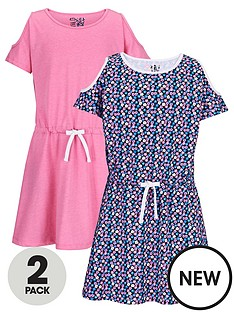 freespirit-girls-fashion-basics-dresses-with-cutout-shoulders-2-pack