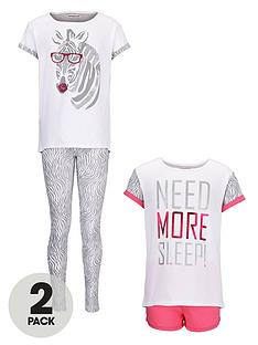 freespirit-girls-shortlong-pyjamas-2-pack