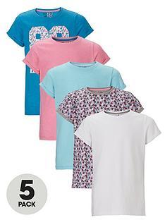 freespirit-girls-fashion-basic-t-shirts-5-pack