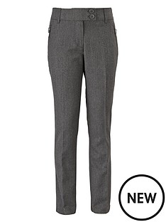 top-class-girls-teflon-coated-tapered-zip-pocket-trousers-pack-of-2